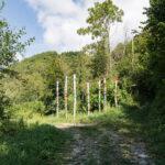 Une oeuvre de Land Art sur un chemin en construction. Rittana. Davide Curatola Soprana
