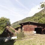 La partie arrière de l'étable. Sampeyre.Borgata Roccia. +1100 m altitude. Isabella Sassi Farìas