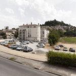 Vue de la Maison Rose, vista verso la Citadelle. Forcalquier. Isabella Sassi Farìas