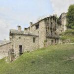 Vue du hameau. Castelmagno. Borgata Campofei. Alessandro Guida