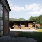 Une scierie industrielle. Brossasco. Sampeyre.+980 m altitude. Davide Curatola Soprana